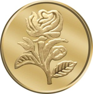 WearYourShine by PC Jewellers Flower 24 (995) K 1 g Gold Coin