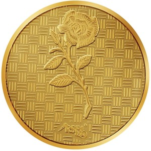 RSBL Precious Certified Dazzling Rose Design 24 (995) K 5 g Yellow Gold Coin