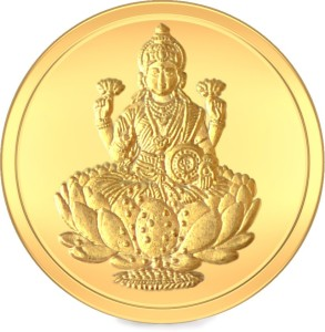 BlueStone Lakshmi 24 (995) K 10 g Yellow Gold Coin