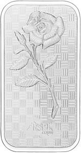 RSBL Precious Certified Exquisite Rose Design 24 (999) K 25 g Silver Bar