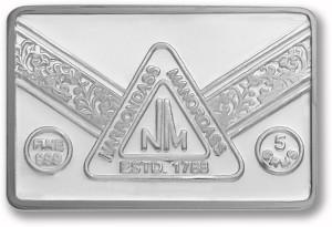 P.N.Gadgil Jewellers N.M Chip S 999 5 g Silver Bar