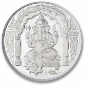 P.N.Gadgil Jewellers Ganesh Om S 999 100 g Silver Coin