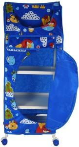 Flipzon 4 Shelve Blue PVC Collapsible Wardrobe