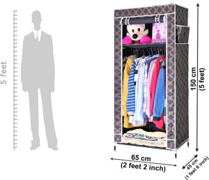 c14b9512686 Evana Carbon Steel Collapsible Wardrobe Finish Color Black Best ...