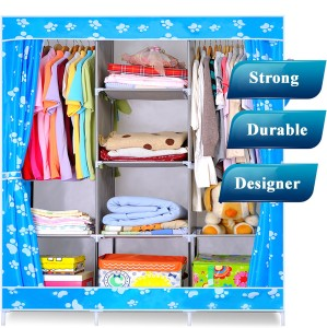 947012c3e Evana Carbon Steel Collapsible Wardrobe Finish Color Blue Best Price ...