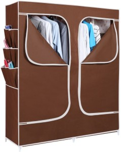 007121629 Evana Carbon Steel Collapsible Wardrobe Finish Color Brown Best ...