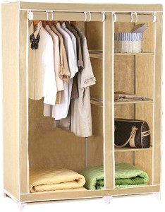 Anything & Everything 3.5 Feet Foldable Storage Cabinet Almirah Carbon Steel Collapsible Wardrobe