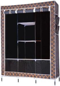 Evana Big Black Plaid -02 Carbon Steel Collapsible Wardrobe