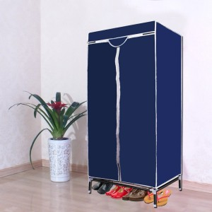 Kawachi Single door wardrobe Polyester Collapsible Wardrobe