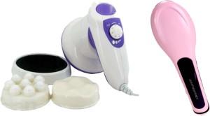 Appliance Bazar Combo of manipol massager hair straightener brush