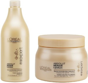 L Oreal Paris Absolut Repair lipidium mask and Shampoo Set of Best ... 3f158e2392