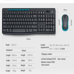 Logitech Mk275 Wireless keyboard & mouse Combo Set