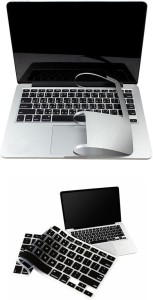 Pindia Apple Macbook Pro 13 13.3 Inch Md101hn/A Md101ll/A Full Palm Guard Black Keyboard Cover Combo Set