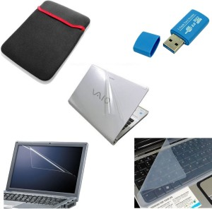 Namo Art Laptop Combo Sleeve, Transparent Skin, Card Reader, Screen Guard, Key Guard Combo Set
