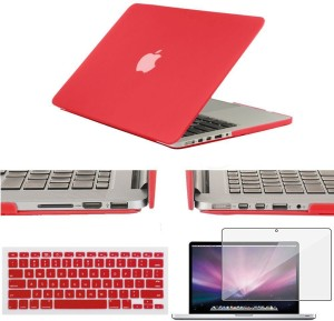 LUKE acBook Air 11.6 inch Case,Rubberized Matte Hard Shell Plastic Case+Matching Keyboard Skin+LCD Screen Protector+ Touchpad Protector Free for Macbook Air 11.6