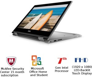 Dell Inspiron 5000 Core i7 7th Gen - (8 GB/1 TB HDD/Windows 10 Home) 5378 2 in 1 Laptop