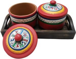 VarEesha Handcrafted 3 Piece Condiment Set
