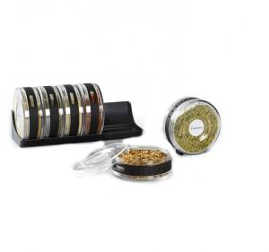 Shrih Cylinder Spice Rack Seasonings Tray Set 6 Piece Spice Set
