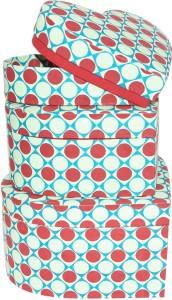 R S Jewels Handmade Paper Hart Shape Multicollor Utility Box  - 1000 ml Paper Food Storage