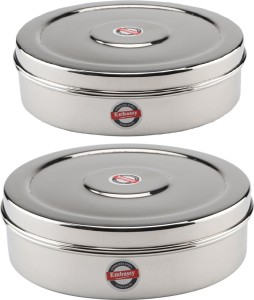 Embassy Chapati Box Deep (Sizes 10 & 11)  - 2100 ml Stainless Steel Multi-purpose Storage Container