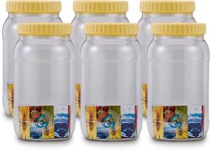 GPET Round Jar - Set Of 6  - 2000 ml Plastic Food Storage