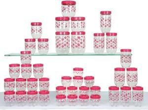 Princeware Princeware 41 pcs Stack and Lock Containers  - 130 ml, 230 ml, 330 ml, 430 ml, 600 ml, 750 ml, 1160 ml Plastic Grocery Container