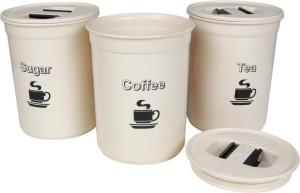 CSM Coffee, Sugar, Tea Container Set  - 500 ml Plastic Multi-purpose Storage Container