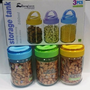 MeraHomeStore  - 580 ml Glass Multi-purpose Storage Container