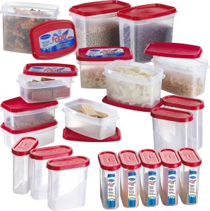 Primeway Modular Kitchen Food Savers  - 275 ml, 500 ml, 750 ml, 1000 ml Plastic Multi-purpose Storage Container