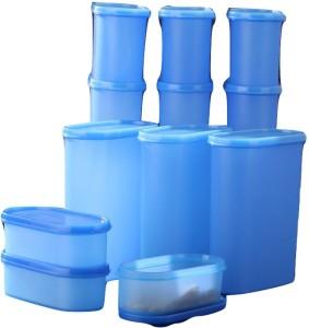 Tallboy Mahaware Aqua blue space saver (micro oven safe)  - 600 ml, 1200 ml, 1800 ml, 2400 ml Polypropylene Multi-purpose Storage Container