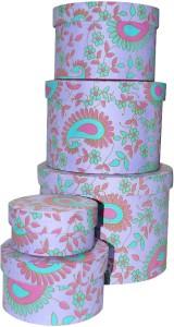 R S Jewels Handmade Paper Multicollor Utility Box  - 1000 ml Paper Food Storage