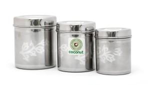 Coconut Floral Deep Dabba  - 1500 ml, 1750 ml, 2000 ml Stainless Steel Food Storage
