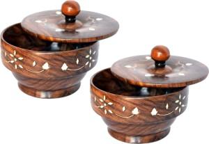 Woodino Handicrafts Masala Box Large  - 200 ml Wooden Multi-purpose Storage Container