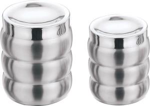 Aagam 3 Ribbed  - 425 ml, 700 ml Stainless Steel Food Storage