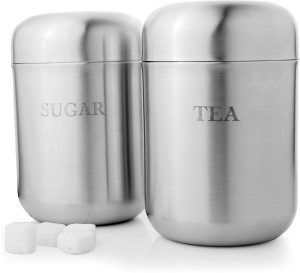 Mosaic Canister Dome 10 cm  - 980 ml Stainless Steel Tea, Coffee & Sugar Container