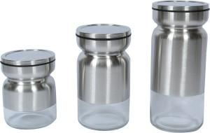 Home Creations  - 3 L, 2 L Glass Multi-purpose Storage Container