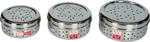 KCL Coriander Box Set Of 3  - 250 ml, 1000 ml, 1500 ml Stainless Steel Food Storage