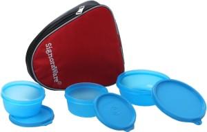 Signoraware Sleek Lunch with Bag  - 300 ml, 200 ml Plastic Food Storage