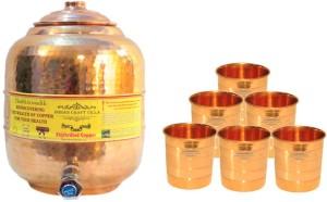 Indian Craft Villa  - 7000 ml Copper Multi-purpose Storage Container
