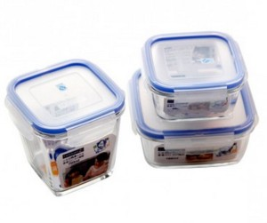 Luminarc S3P Pure Box Square Deeper  - 750 ml Glass Multi-purpose Storage Container