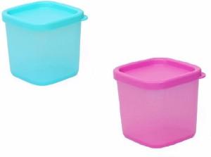 Pindia Set of 2 Fruit Dryfruit Spices  - 200 ml Plastic Multi-purpose Storage Container