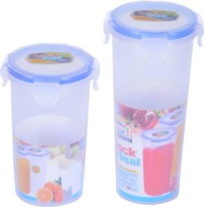 SKI Lock and Seal Glass Set  - 450 ml, 640 ml Polypropylene Multi-purpose Storage Container