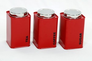 Gaarv Square Canisters  - 1360 ml Steel Tea, Coffee & Sugar Container