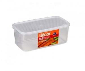 Decor Tellfresh Oblong 2.0 L  - 2000 ml Plastic Food Storage