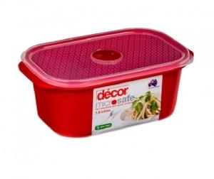 Decor Microsafe Oblong 1.6 L  - 1600 ml Plastic Food Storage