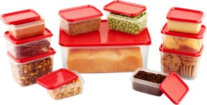 All Time Polka 11 Pieces  - 3000 ml, 125 ml, 400 ml, 250 ml Plastic Food Storage