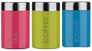 Apricot  - 600 ml Stainless Steel Tea, Coffee & Sugar Container