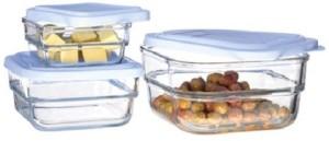 Pasabache Gourmet Food Set  - 700 ml, 550 ml, 400 ml Glass Multi-purpose Storage Container