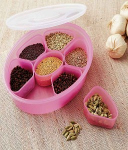 Your Choice Pink Spice Box / Masala Box / Dry Fruit Box  - 1750 ml Plastic Food Storage