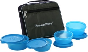 Signoraware Fresh Lunch Box (With Bag)  - 620 ml, 200 ml Plastic Food Storage